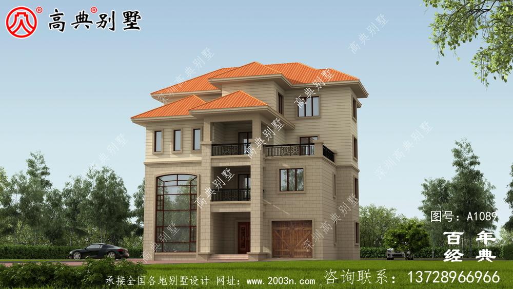 南方新农村三层住宅设计方案大全,户型方正简单