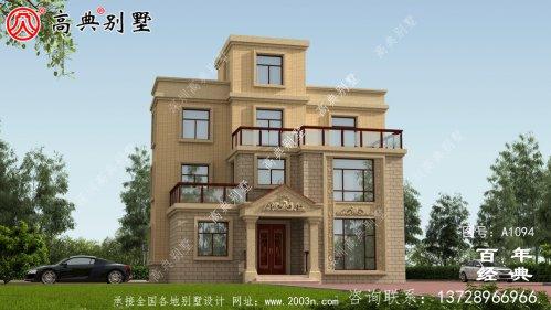 带露台的农村三层私人住宅设计图和
