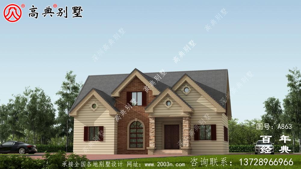 一楼乡村别墅设计家庭图纸,占地约146平方米,