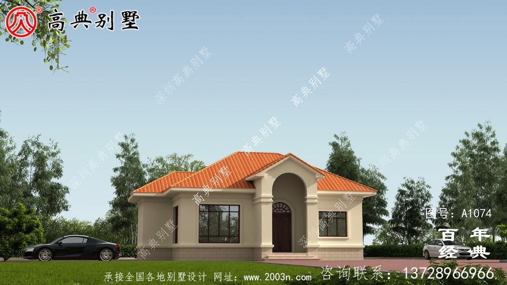 新农村一楼简易自建别墅设计图纸齐全。