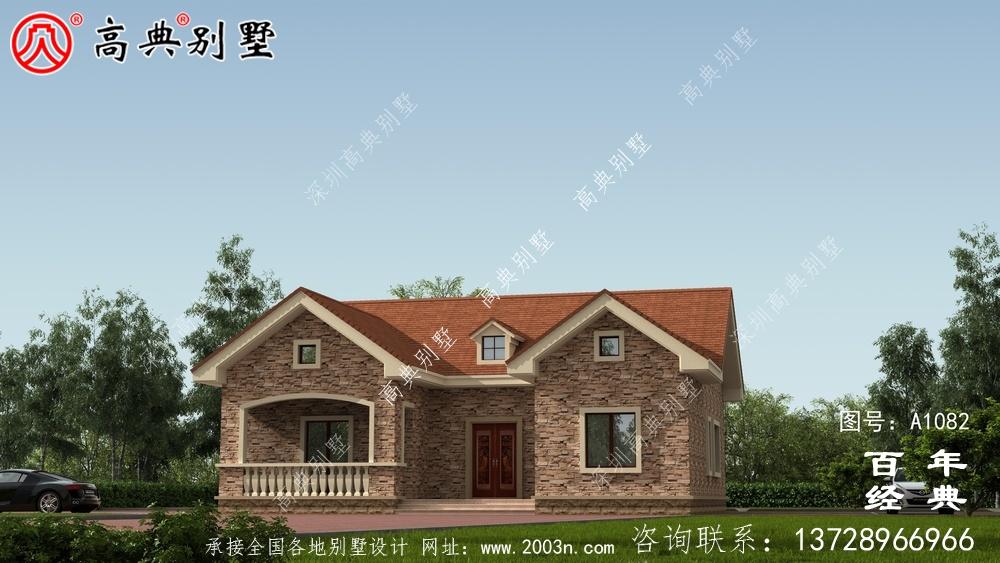 一层农村建造别墅设计方案强烈推荐,含外型照