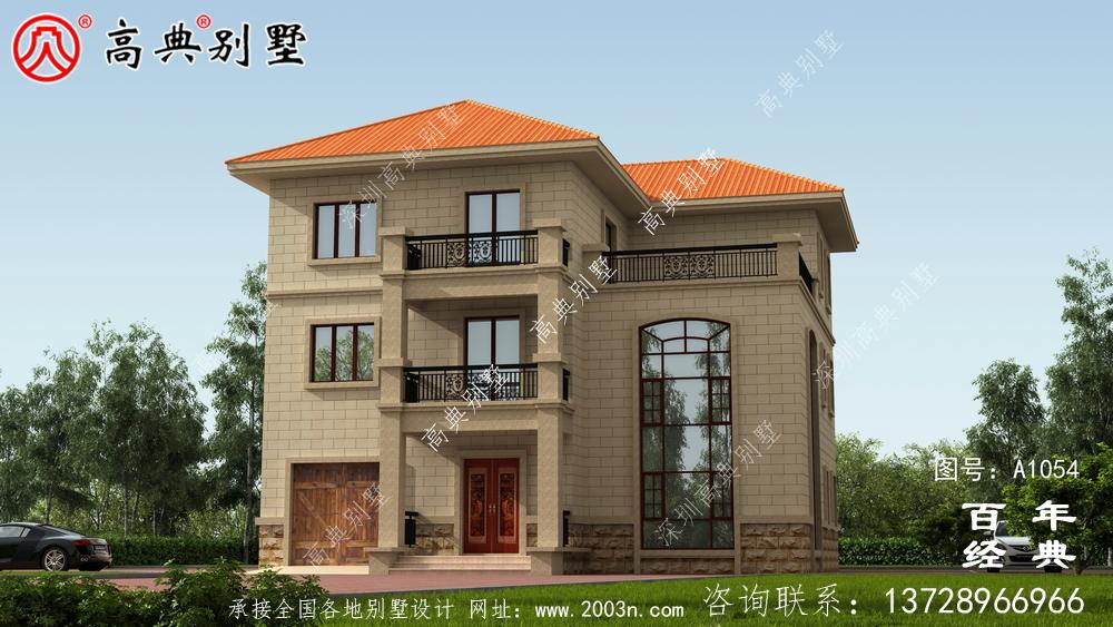 三层新农村住宅房屋设计图,温暖美观大方的房型