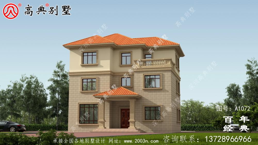 欧式三层别墅设计纸带效果图,全套施工方案