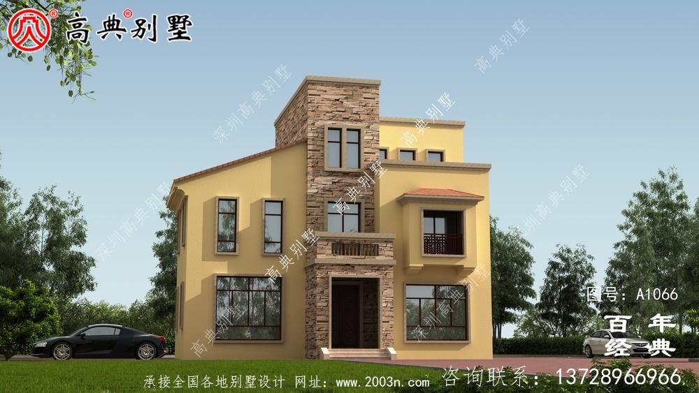 美丽的乡村欧式三层小楼设计,简约大气。