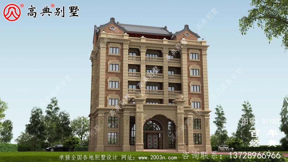 347平方米农村法式别墅设计,包括全套施工图