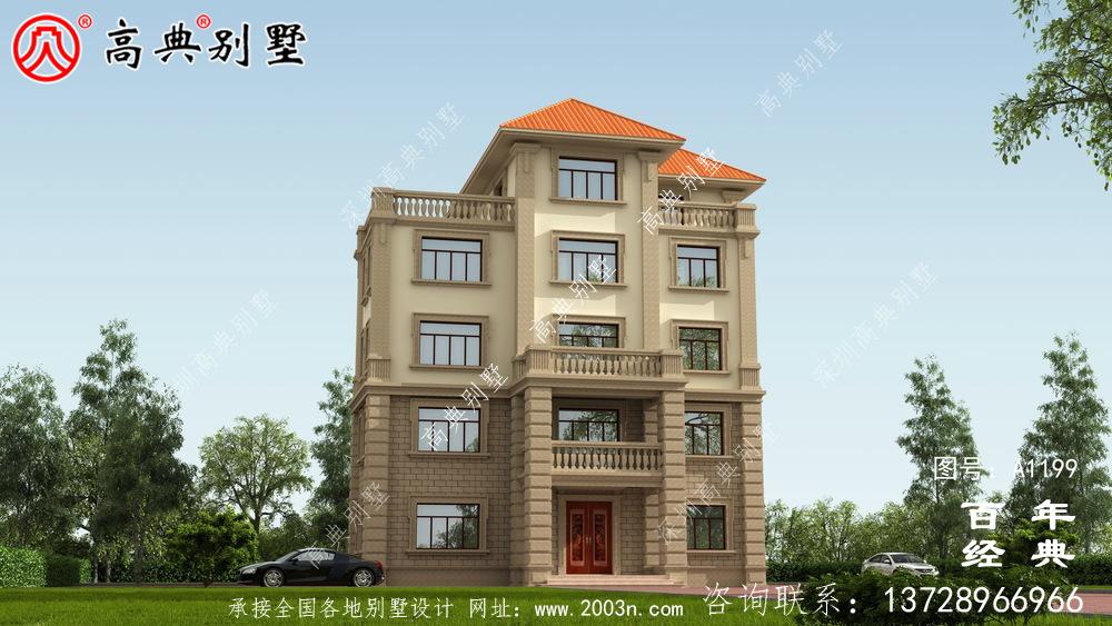 农村大户型五层自建别墅设计图纸,室内功能齐全