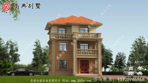 乡村房屋欧式三层设计