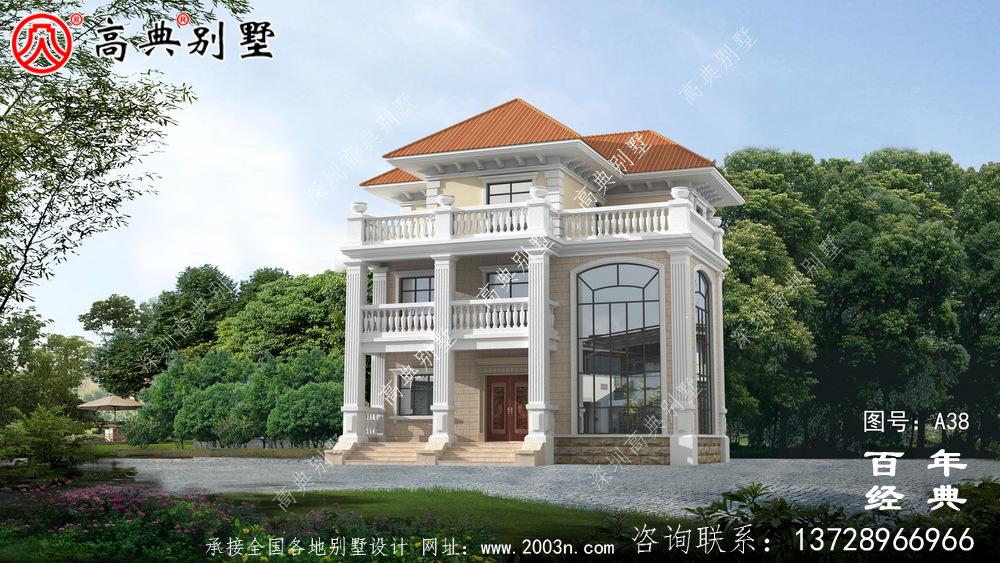 新农村三楼带阳台别墅的图纸及效果 农村三楼设计图纸