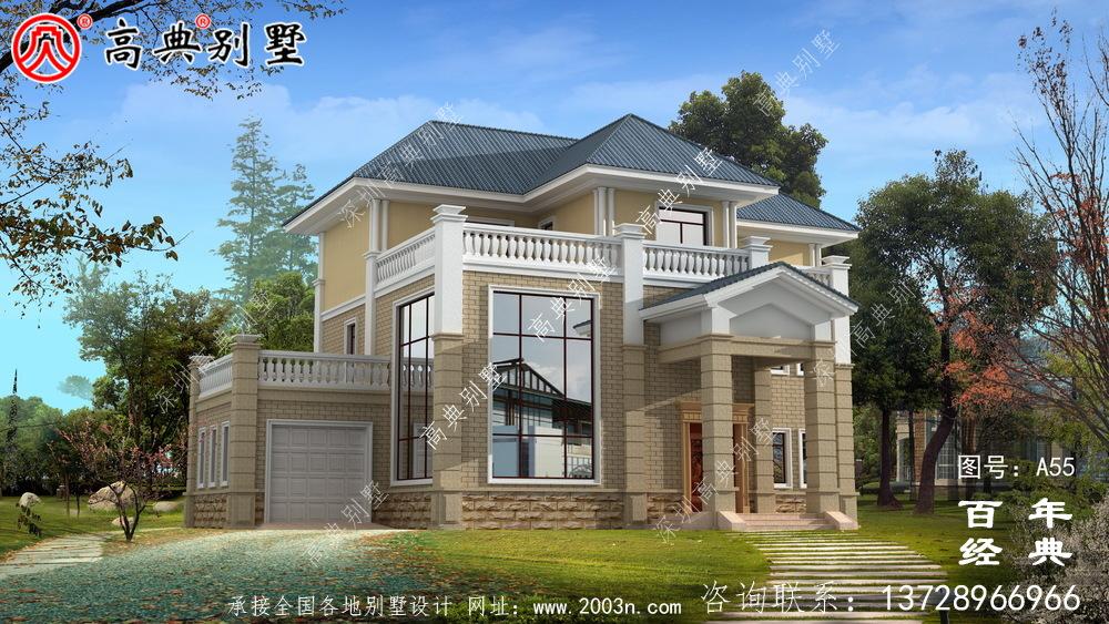 美丽的三楼简欧别墅设计图施工图与效果图_农村三楼别墅设计