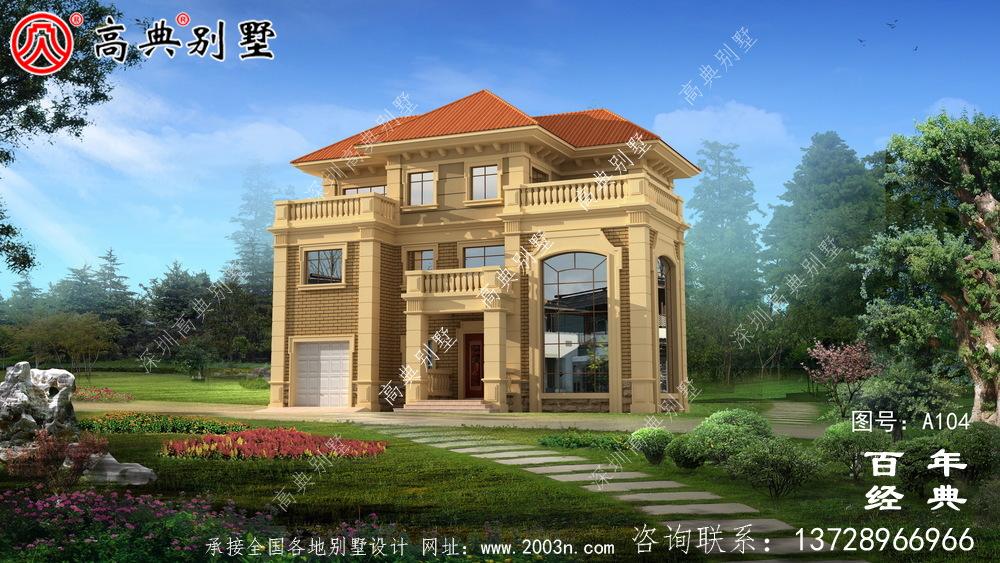 欧式古典三层别墅设计整套工程图纸_三层别墅设计图纸