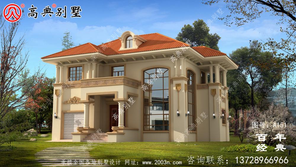 带露台的两层别墅全套图纸_两层别墅设计图