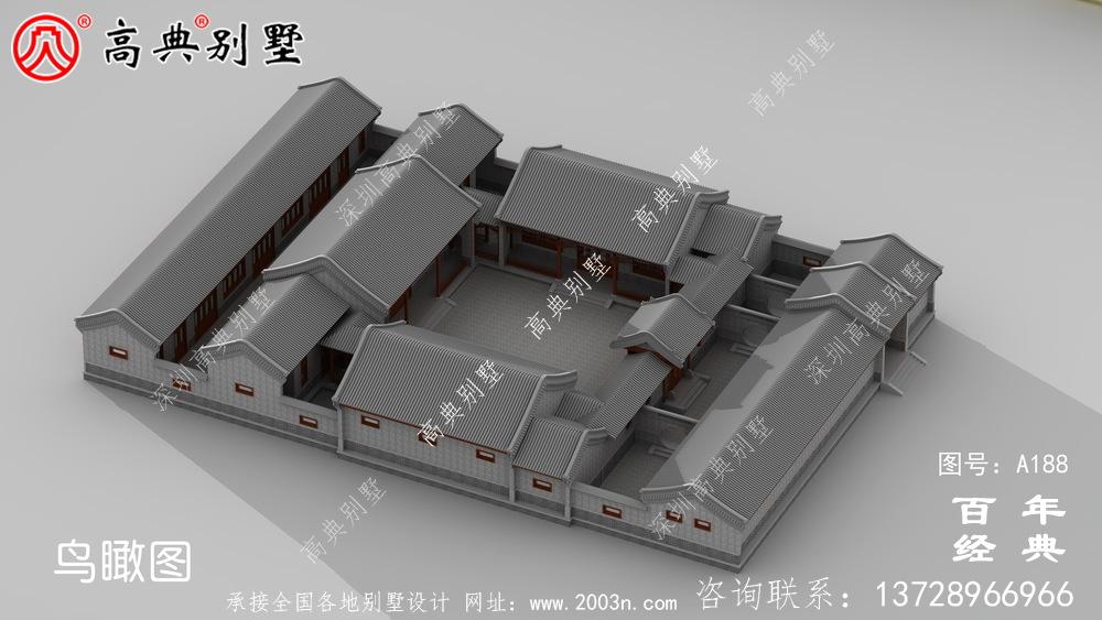 新中式别墅图纸及效果图_农村别墅设计