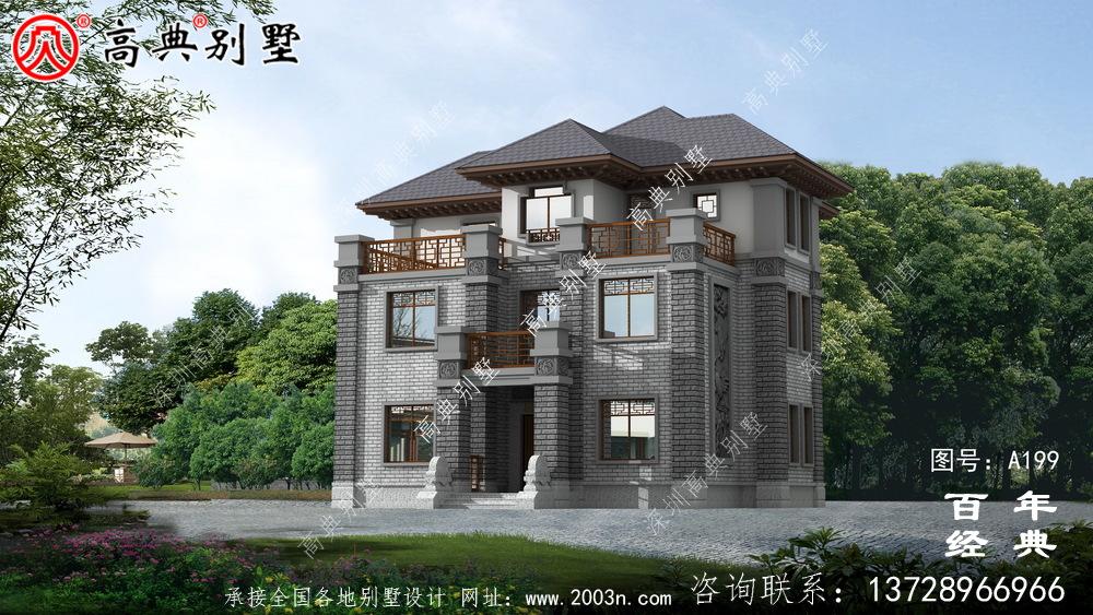 三层框架结构抗震小别墅设计图纸_农村自建房设计图