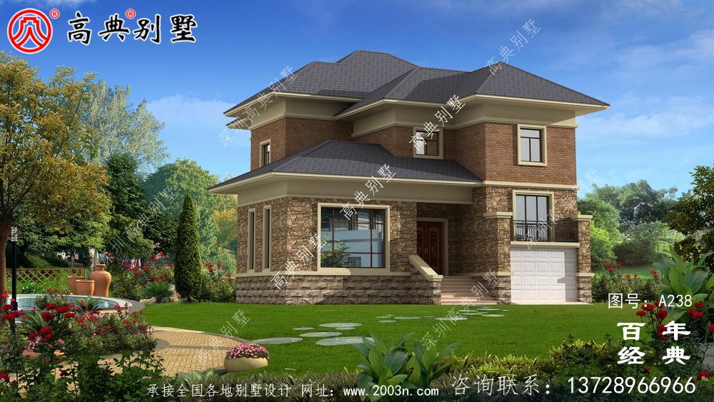 二楼小别墅简易实用设计图_农村住宅设计图
