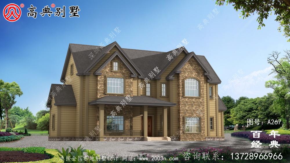 简易两层乡村自建房设计图_农村房屋设计图