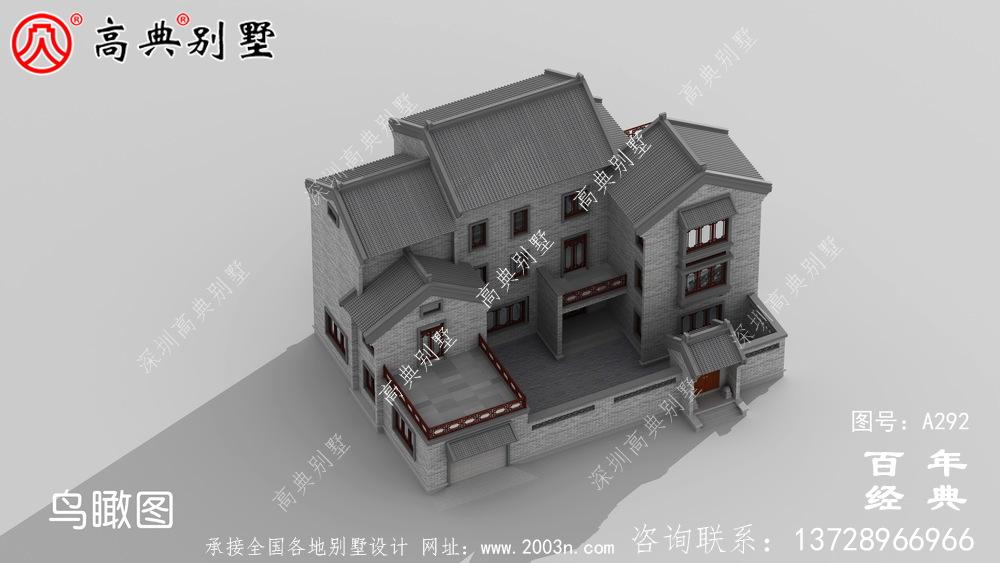 三层中式带阳台别墅工程图纸及设计图_三层中式别墅设计图