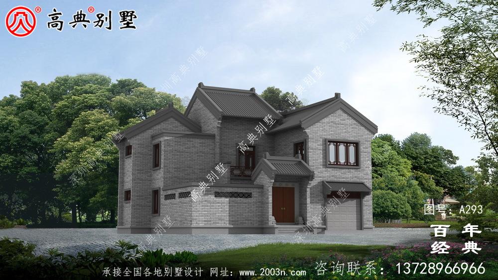 农村二层新中式自建房设计图纸及施工图_二层房屋设计图