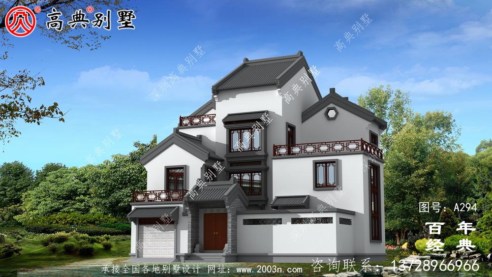 美丽的三层别墅图纸效果图施工图_ 三层别墅设计图纸