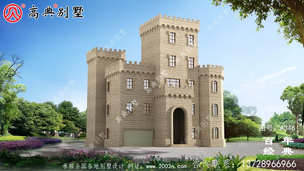 五层带车库平顶屋自建房屋设计图_别墅设计图纸,农村房屋设计图