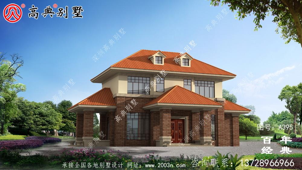 时尚两层别墅设计图纸_别墅设计图纸及施工图,农村房屋设计图