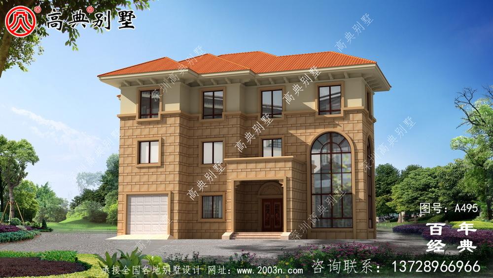 三层豪华私人别墅设计图纸_别墅设计图纸,农村房屋设计图,农村自建房设计