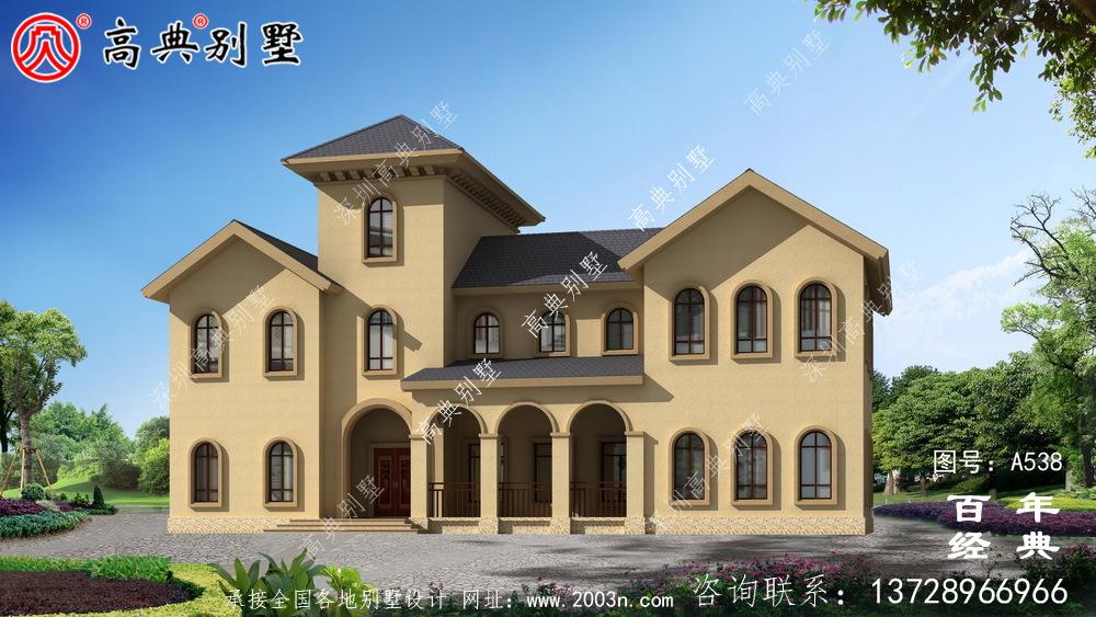 豪华漂亮的别墅设计图纸全套_别墅设计图纸,新农村别墅,农村自建房设计