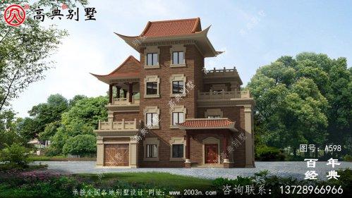 新农村四层中式住宅推