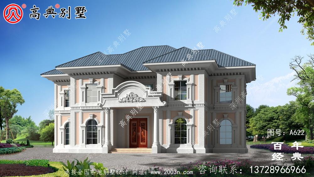 两层坡屋顶别墅_别墅设计图纸,新农村别墅,农村自建房设计