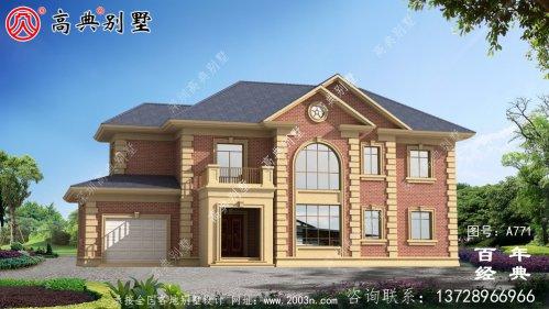 欧式二层车库别墅设计