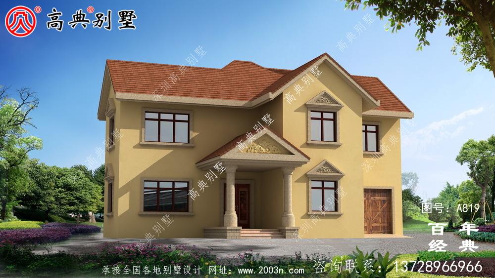 二层欧式小别墅设计图纸及效果图_农村两层别墅设计图纸