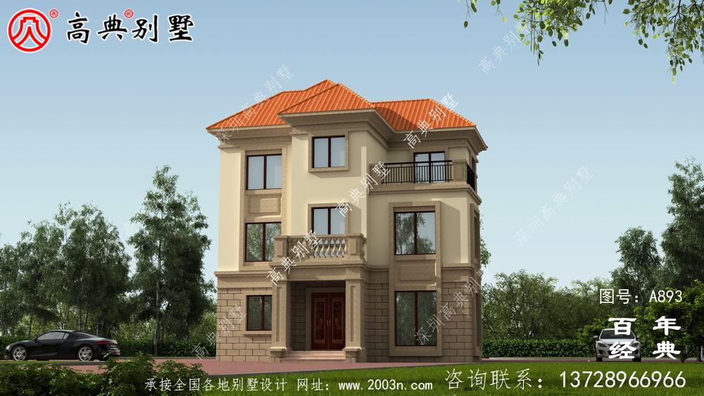 欧式三层别墅设计效果图及外观设计图_农村三层别墅设计