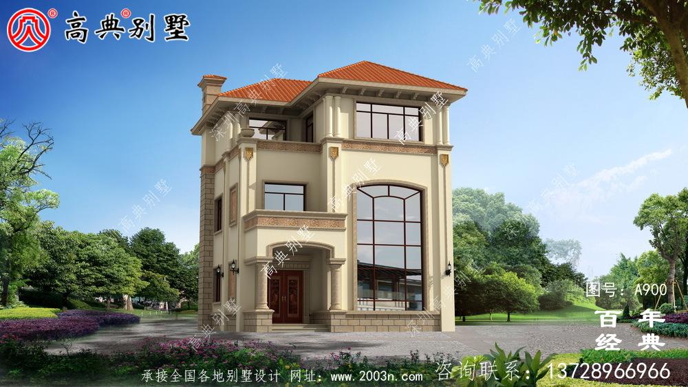 欧式三层复式别墅设计图纸及效果图_乡村三层别墅施工图设计