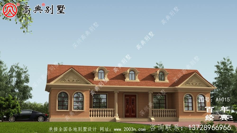 一层欧式别墅设计图纸及效果图_农村平房设计图
