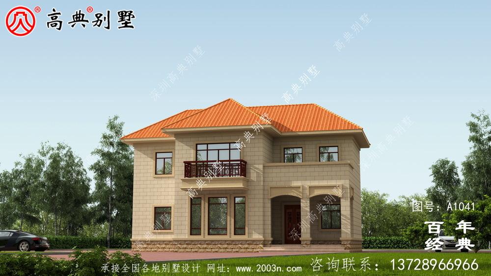 新农村建设简易二层别墅设计图纸及效果图_双层建造房屋设计图