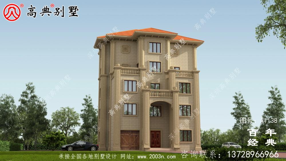 高大欧式五层别墅外观设计效果图_乡村五层别墅设计图纸