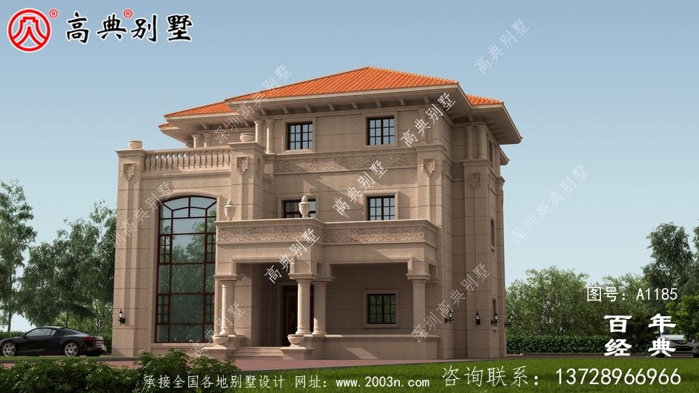 复式豪华欧式三层别墅设计图纸_乡村三层别墅设计效果图