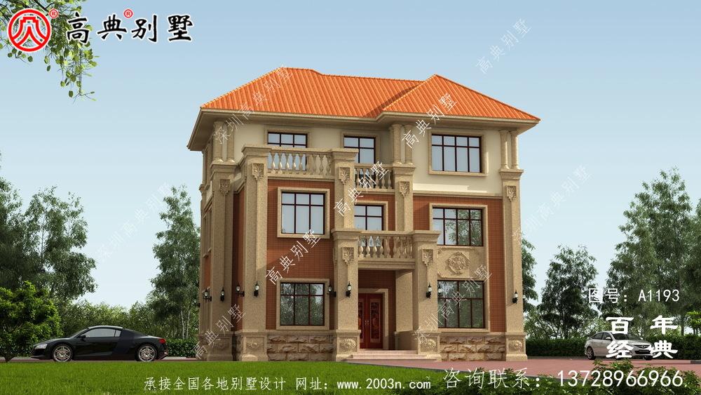 独特复式三层欧式别墅设计图纸及效果图_乡村三层别墅设计图纸