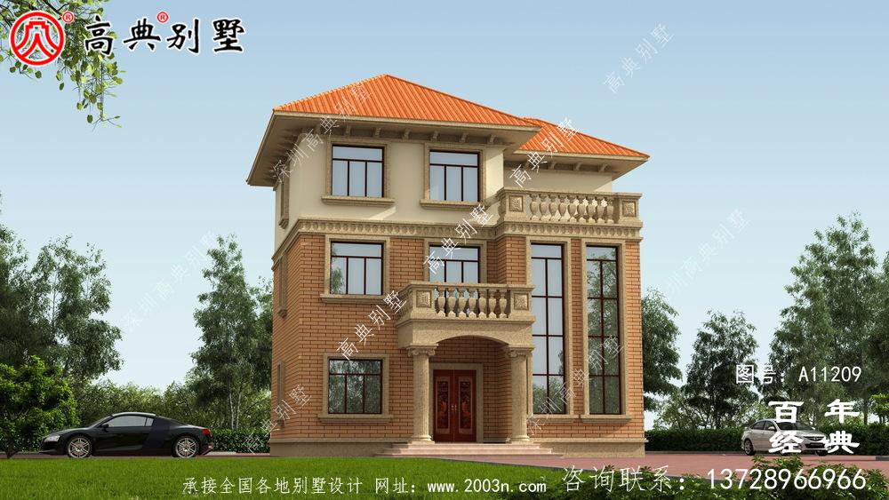 农村三层复式别墅设计图纸及效果图_农村三层别墅设计图