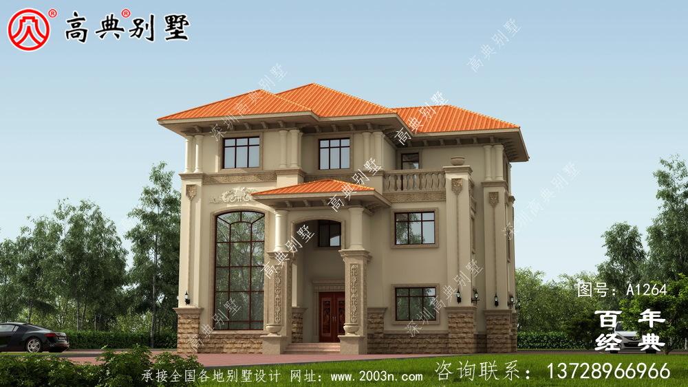 大气三层复式欧式别墅设计图纸_三层别墅图纸