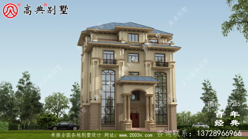 复式精致五层欧式别墅设计图纸_农村三层别墅图纸