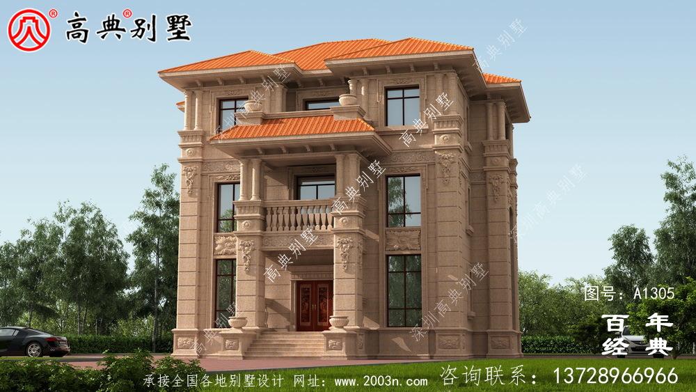 豪华三层欧式别墅设计图纸效果图_农村三层别墅图