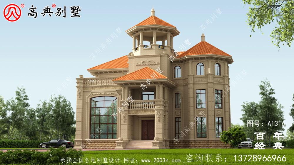 豪华复式三层欧式别墅设计图纸及效果图_农村三层别墅图纸
