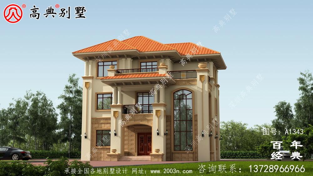 乡村三层复式别墅设计图纸及效果图_农村三层别墅设计图