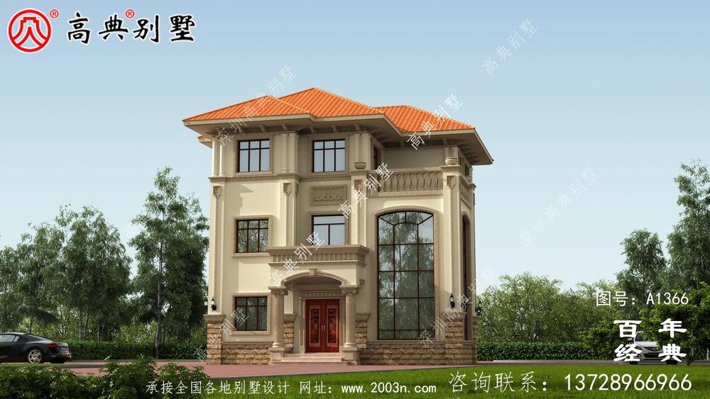 三楼欧式豪华别墅设计图纸集_别墅设计图纸
