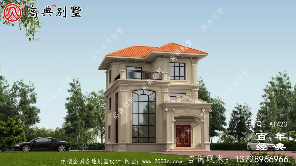 复式三层欧式小别墅效果图_农村三层别墅设计