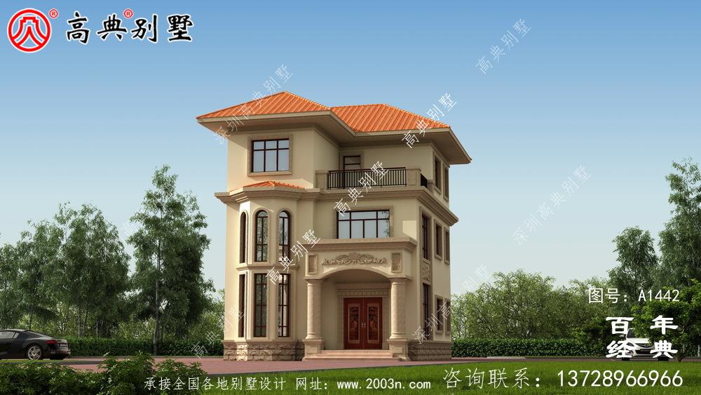 气派欧式三层复式别墅设计图纸和效果图_农村三层别墅设计