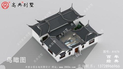 大气单层中式别墅带庭