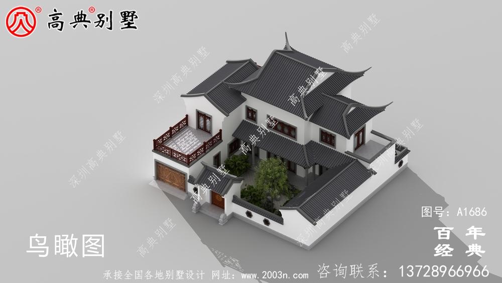 两层中式房屋设计图纸及效果图_农村三层别墅设计