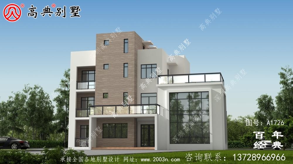 现代四层复式别墅设计图纸_农村四层别墅设计