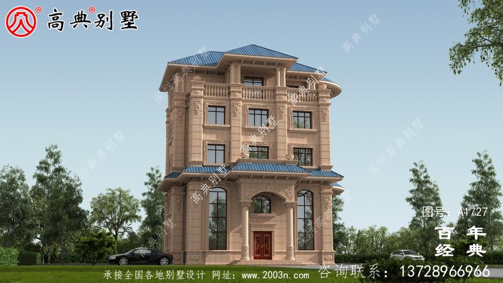 复式五层欧式别墅外观效果图_农村五层别墅设计